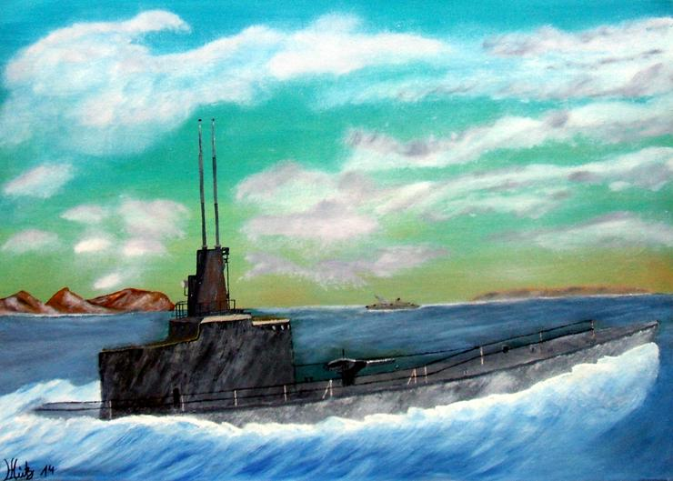 Silent Hunter - U-Boot - Oel Gemälde - 50 x 70 cm