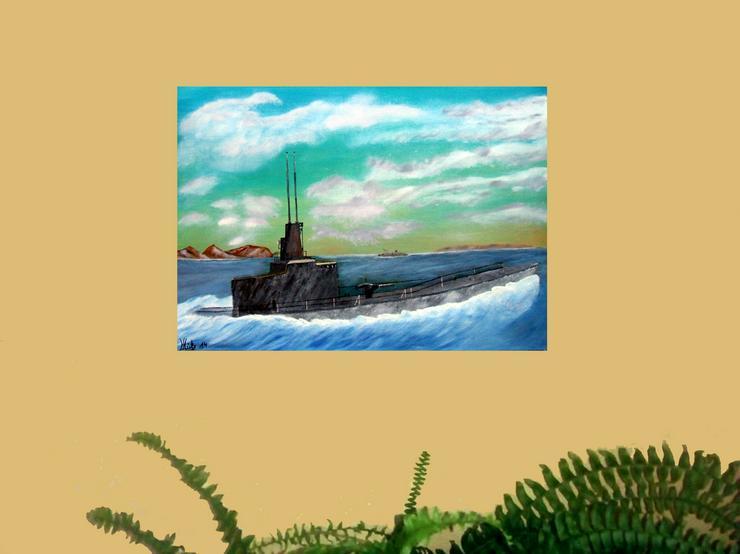 Bild 2: Silent Hunter - U-Boot - Oel Gemälde - 50 x 70 cm