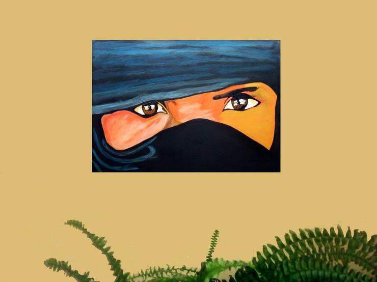 Bild 2: Tuareg- Oel Gemälde - 50 x 70 cm