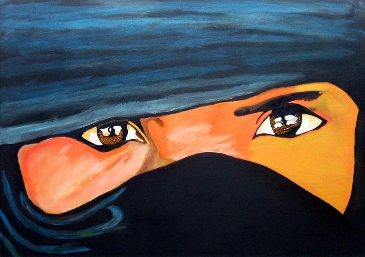 Tuareg- Oel Gemälde - 50 x 70 cm