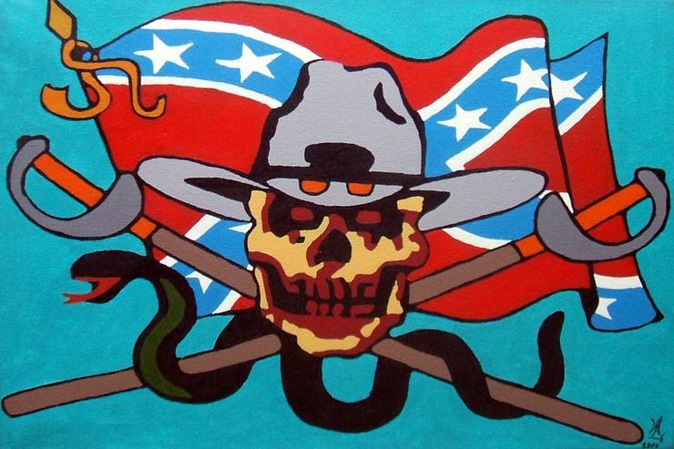 Geister Soldat - Acryl Gemälde - 40 x 60 cm - Gemälde & Zeichnungen - Bild 1
