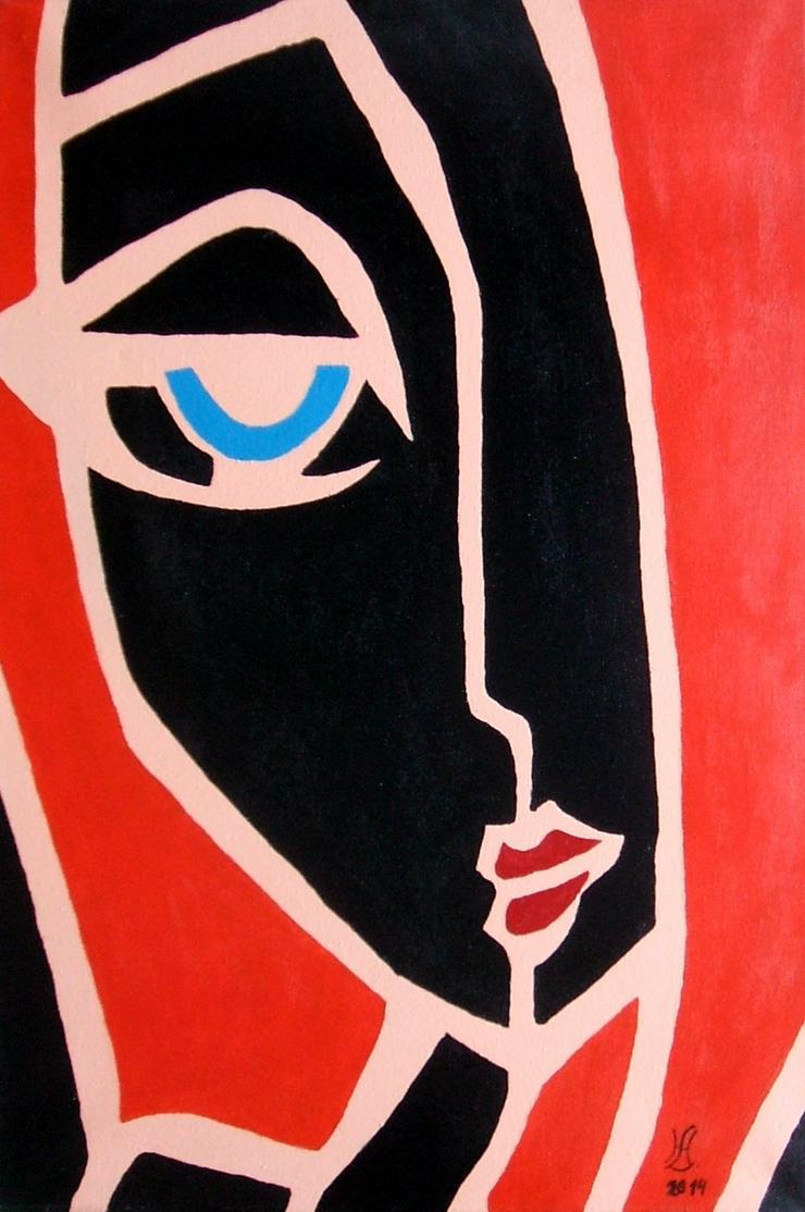 Abstrakte, Moderne,das Gesicht - Gemälde ist 40 x 60 cm - Gemälde & Zeichnungen - Bild 1