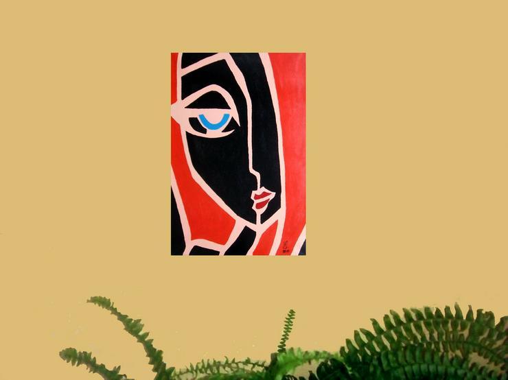 Bild 2: Abstrakte, Moderne,das Gesicht - Gemälde ist 40 x 60 cm