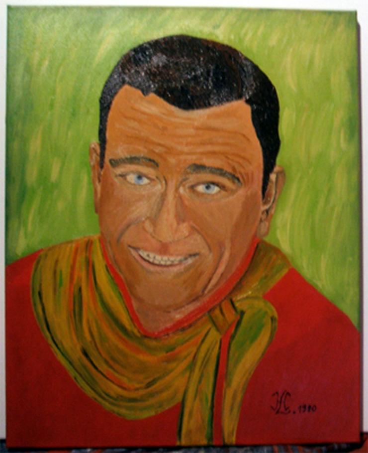 John Wayne - Oel Gemälde - 40 x 50 cm - Gemälde & Zeichnungen - Bild 1