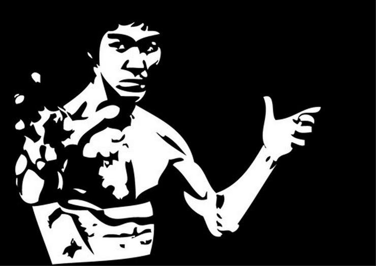 Bruce Lee - Acryl Gemälde - 30 x 40 cm