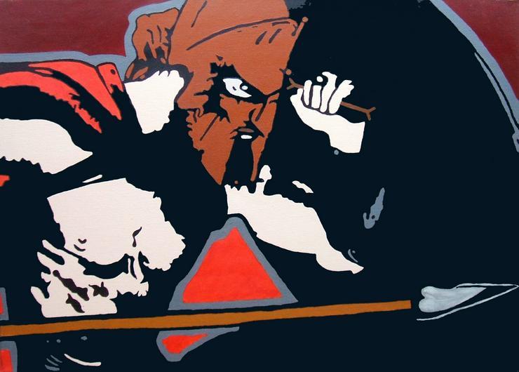 300 der Film - Acryl Gemälde - 50 x 70 cm