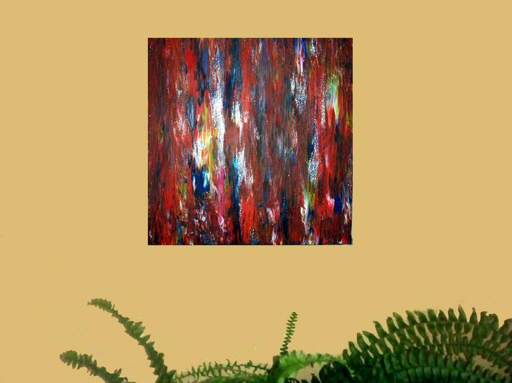Bild 2: Abstrakte, Moderne Malerei Nr.1 - Gemälde ist 50 x 50 cm