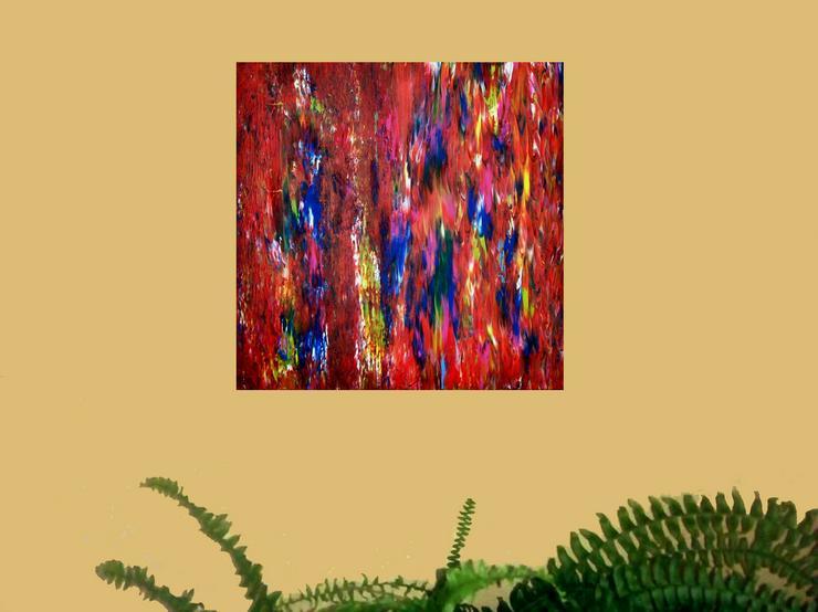 Bild 2: Abstrakte, Moderne Malerei Nr.2 - Gemälde ist 50 x 50 cm