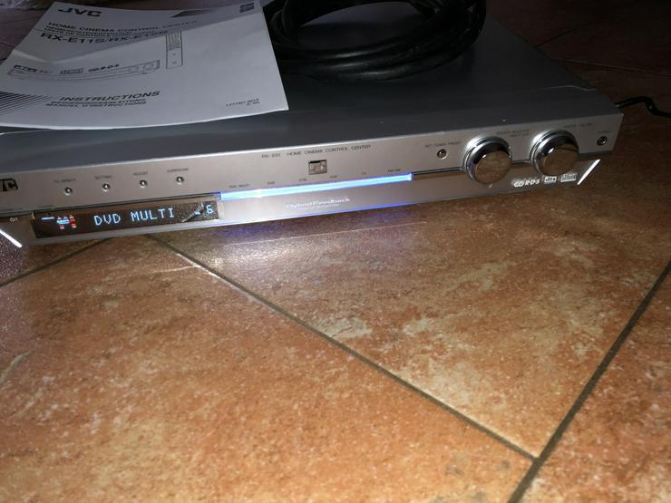 JVC Home Cinems Control Center RX ES1 mit Fernbedienung Anleitung Scart Kabel