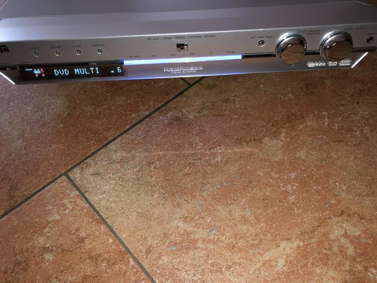 Bild 5: JVC Home Cinems Control Center RX ES1 mit Fernbedienung Anleitung Scart Kabel