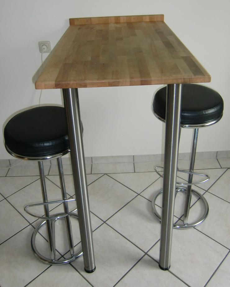 Bild 2: Küchenbartisch mit 2 Barhockern