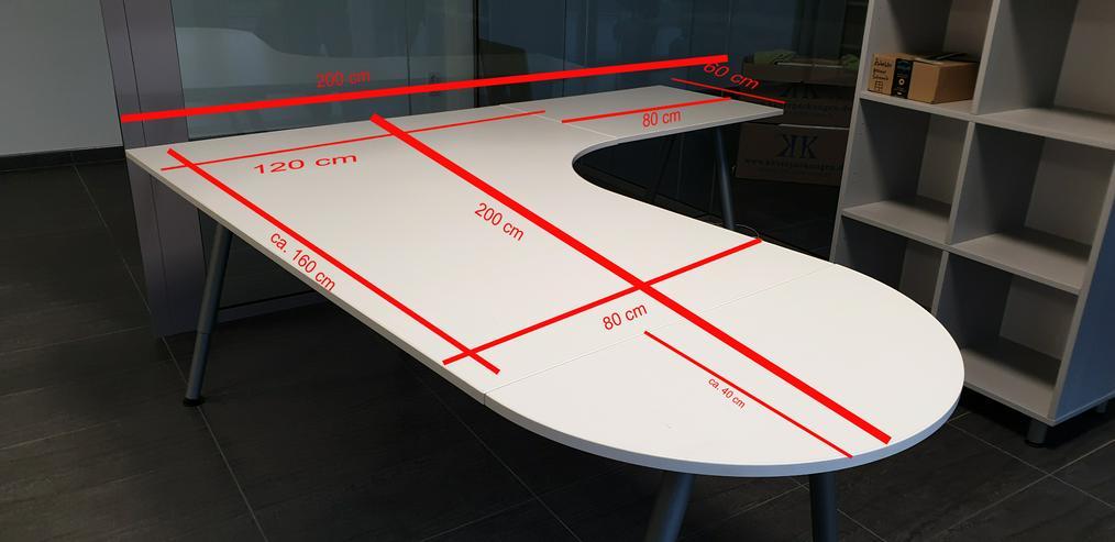 Bild 2: Ikea Galant Eckschreibtisch / Winkelschreibtisch weiß