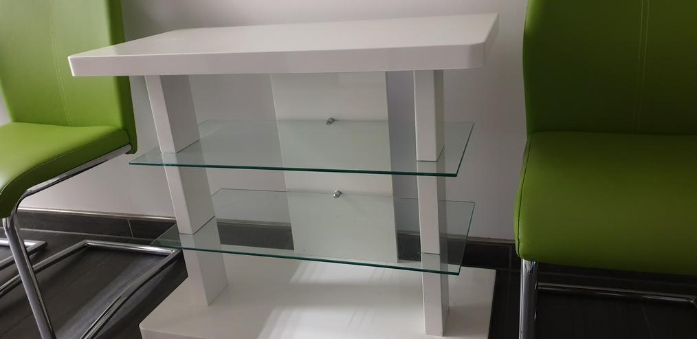 Bild 2: SCHWINGSTUHL Apfelgrün, moderne Freischwinger im Chrom & Lederlook 4x