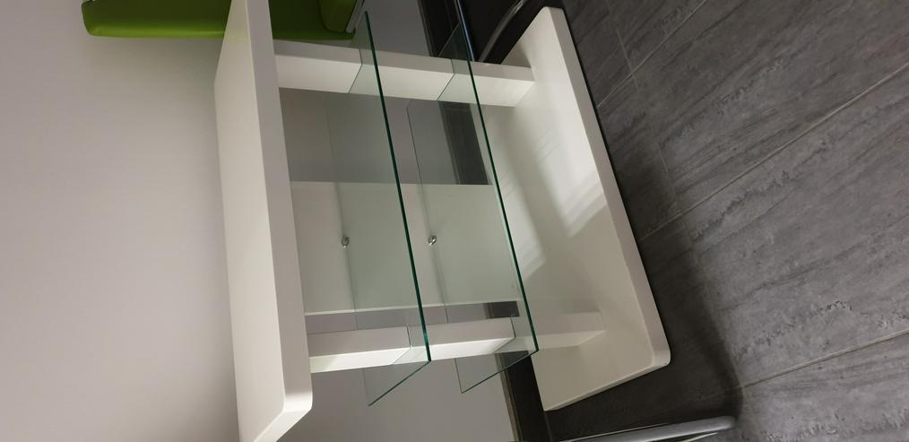 TV-Bank, Zeitschriftentisch, Regal mit Glasböden - TV & Hi-Fi Möbel - Bild 1