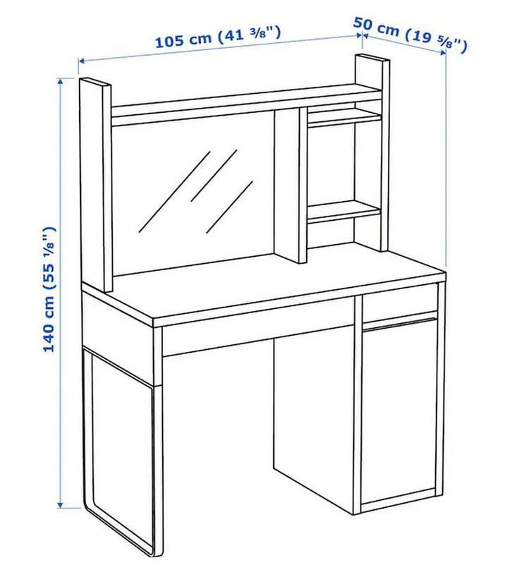 Bild 2: IKEA Schreibtisch Micke weiß