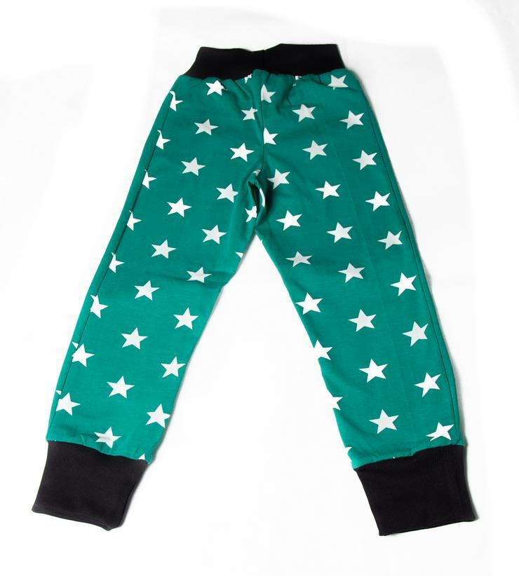 Pumphose Sterne Smaragd - Handmade