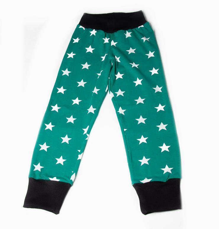 Bild 2: Pumphose Sterne Smaragd - Handmade
