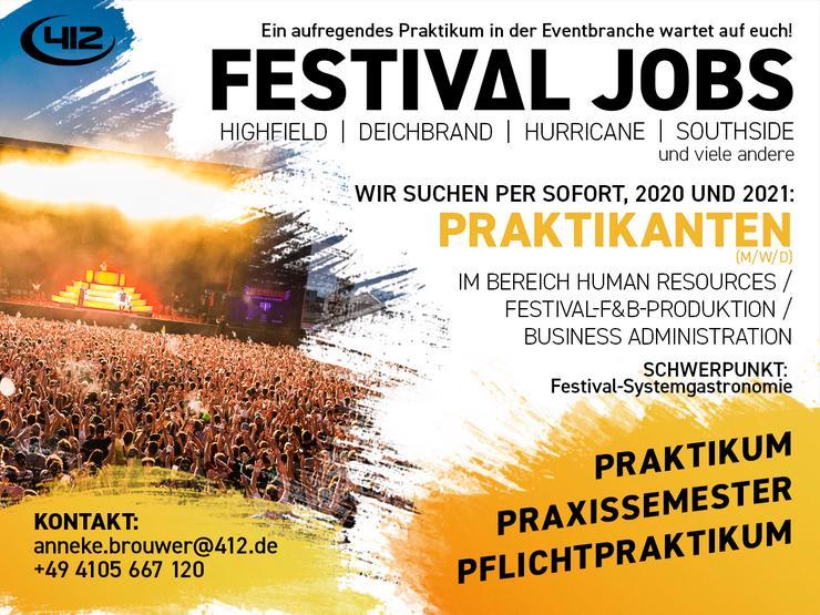Praktikum in der Festival- und Konzert F&B-Produktion
