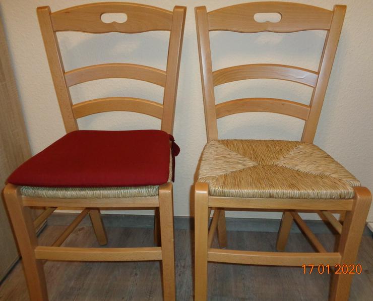 6 Stühle mit Stuhlkissen zu verkaufen