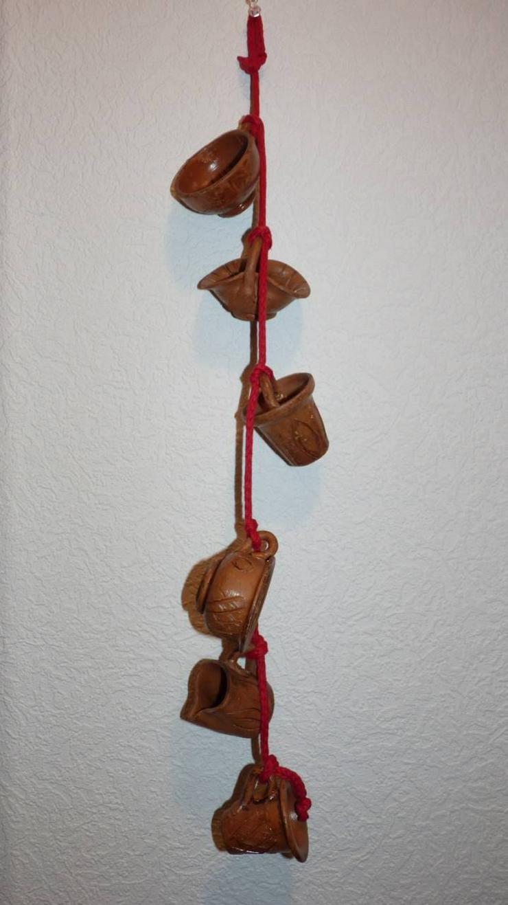 6 Tongefäße zum Aufhängen oder für Setzkasten Töpfe 5 - 7 cm hoch Durchmesser 4,5 - 6,5 cm