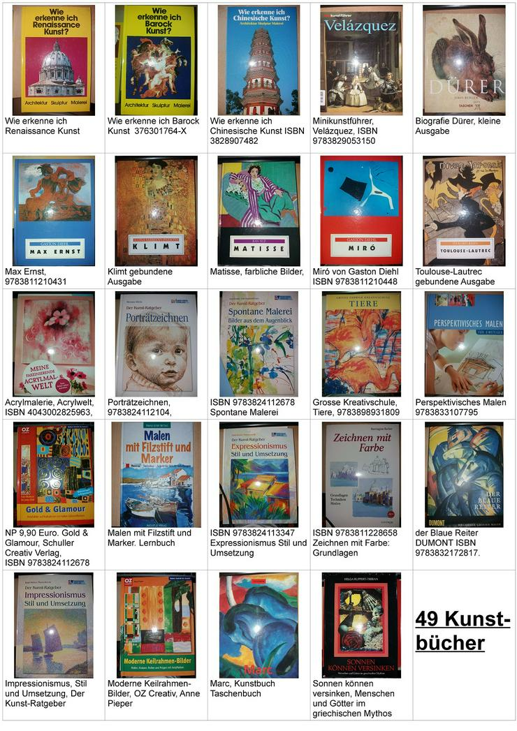 Konvolut über #49 Kunstbücher + 16 Hefte #Kunst Hefte Sachbuch