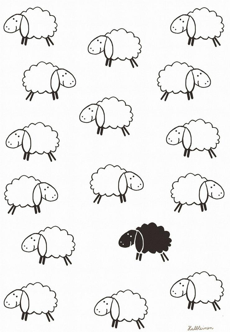 Kracht Geschirrtuch Schwarzes Schaf