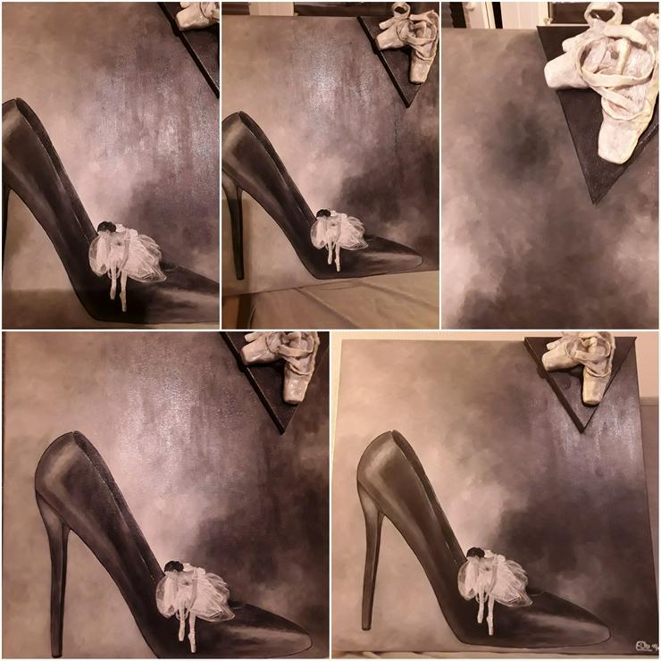 Acrylbild 80x 80 cm auf Leinwand  - Gemälde & Zeichnungen - Bild 1