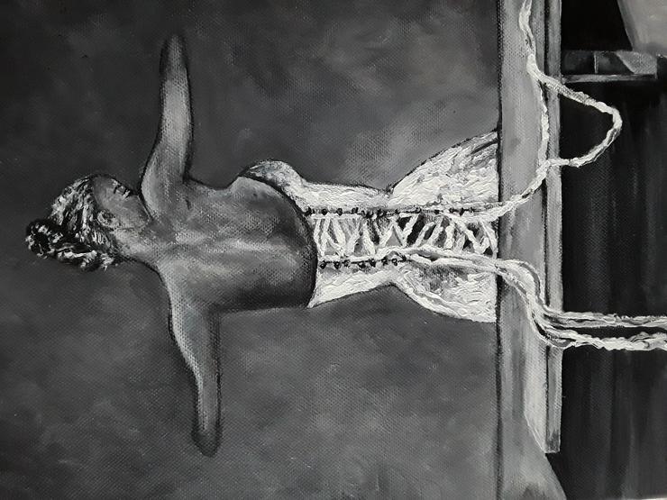 Bild 3: Acrylbild auf Leinwand  50 x 30 cm
