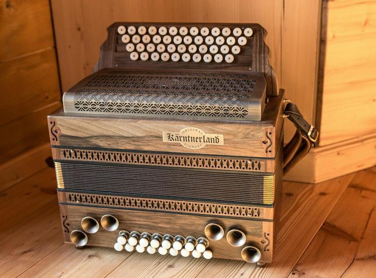 Steirische harmonika Kärntnerland Platin Nuß Exclusiv g-c-f-b