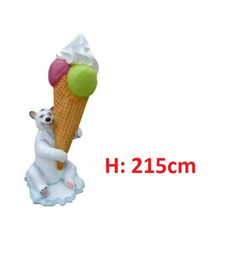 Kugeleis Softeis Eisbär Figuren H: 215cm  Neu - Premium