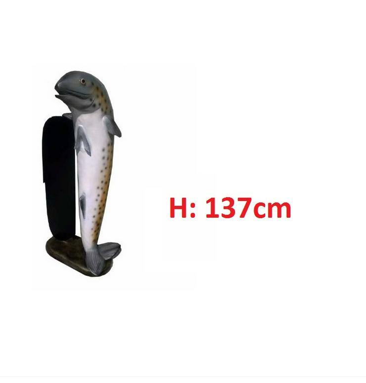 Fish mit Angebotsschild Menu Tafel Figuren H: 137cm Neu - Premium - Werbeständer & -schilder - Bild 1