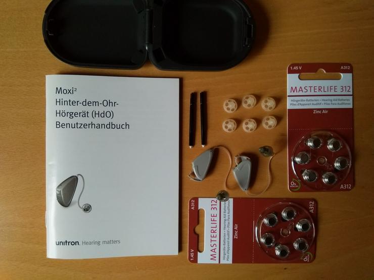 Hörgeräte Digital Unitron Moxi 2 ExS mit Zubehör