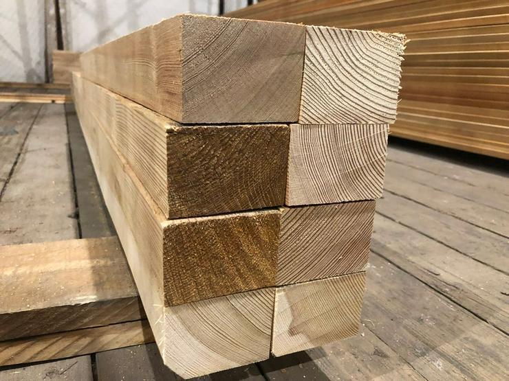 Sibirische Lärche Holzbalken, Sibirische Lärche AB Sortierung.