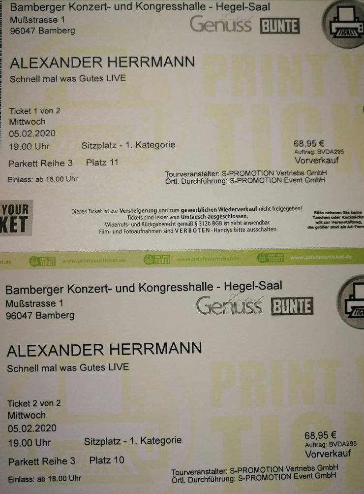 2 Tickets für Alexander Herrmann am 05.02.2020 in Bamberg