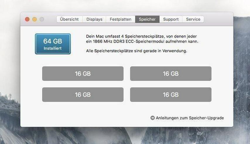 Bild 4: Mac Pro - 12 Core - 64GB Ram - 1T SSD
