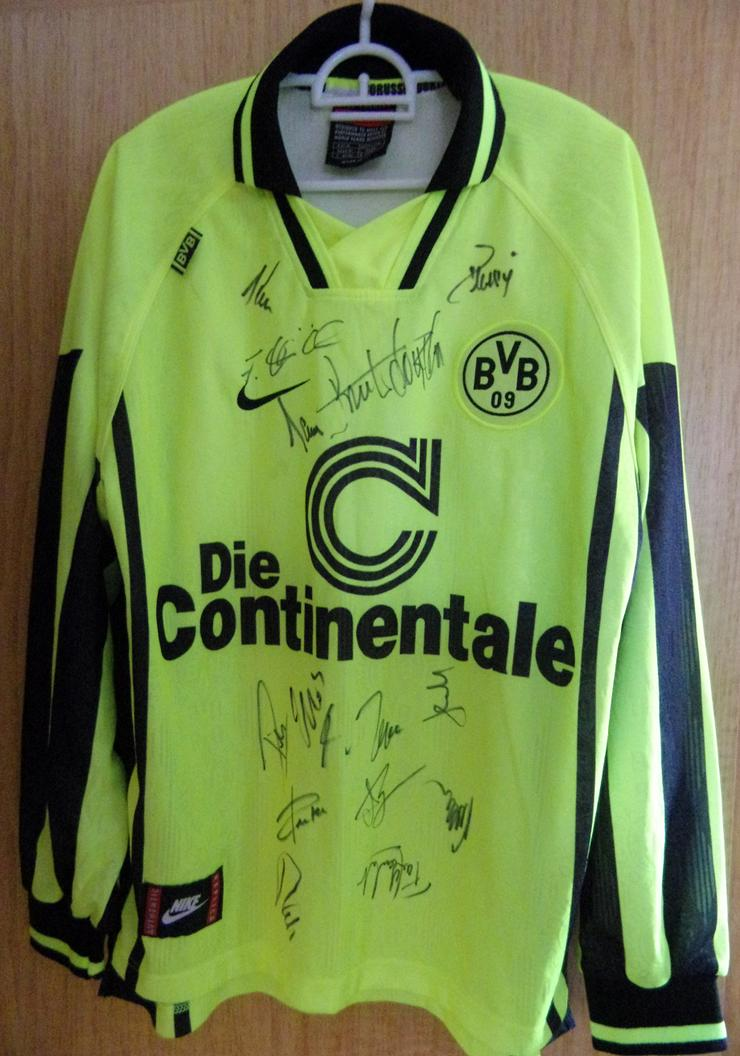 BVB Borussia Dortmund Trikot Signiert mit Schal