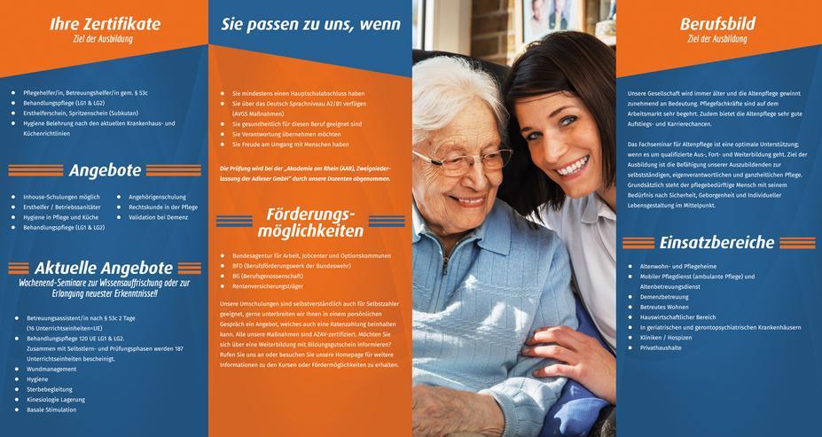 Bild 2: Qualifizierung zur Pflegefachkraft in der Altenpflege