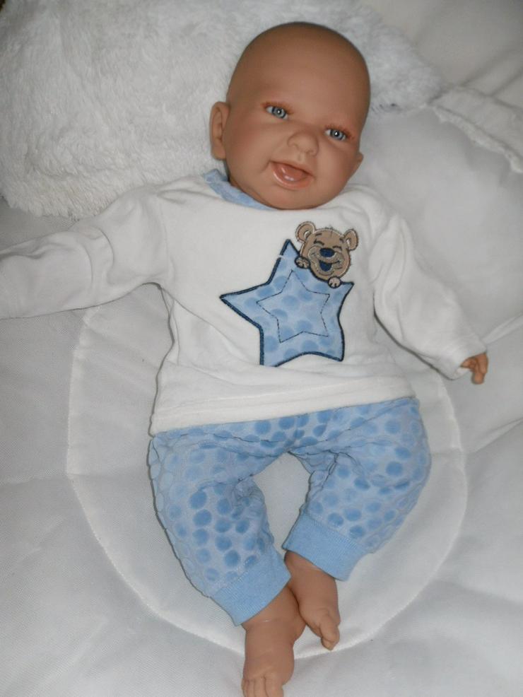 Bild 3:  Babypuppen Noah 54 cm mit Schnuller und Schnullerkette Doro Baby