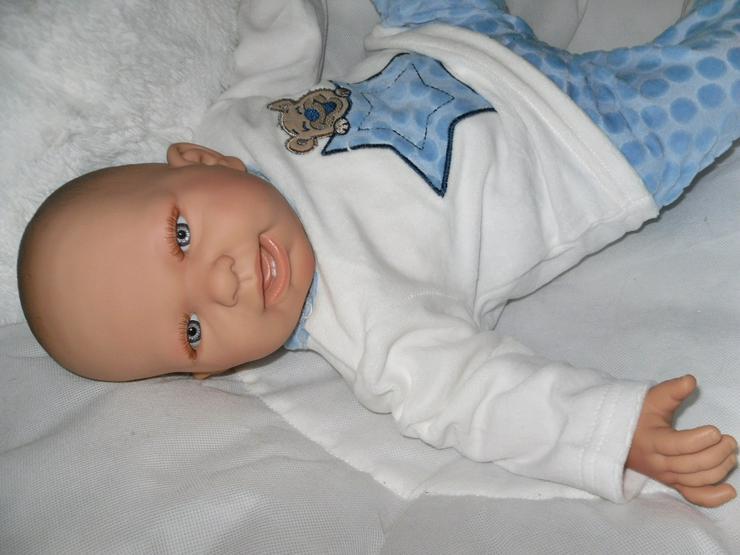 Bild 6:  Babypuppen Noah 54 cm mit Schnuller und Schnullerkette Doro Baby