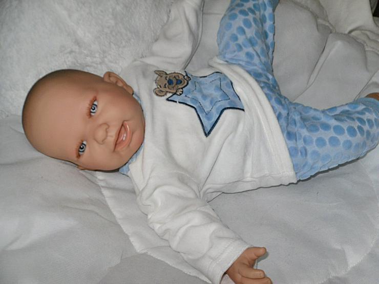 Bild 5:  Babypuppen Noah 54 cm mit Schnuller und Schnullerkette Doro Baby