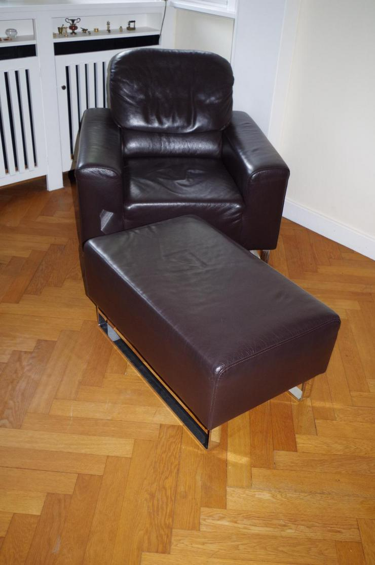 Bild 2: Lausser Sitzgruppe Leder braun TOP Zustand!