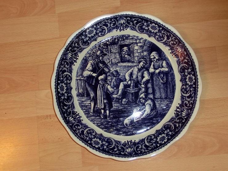 Wandteller Boch fréres Delft, La Loumiérem 35 cm
