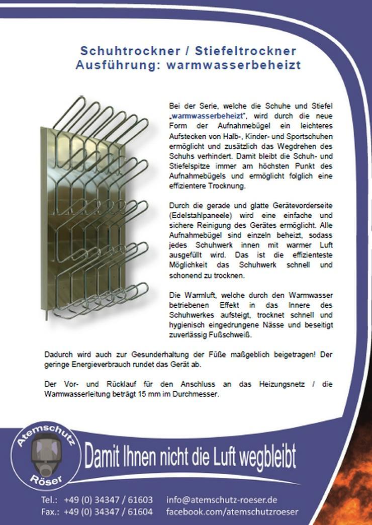 Bild 5: Stiefeltrockner Warmwasser für 20 Paar