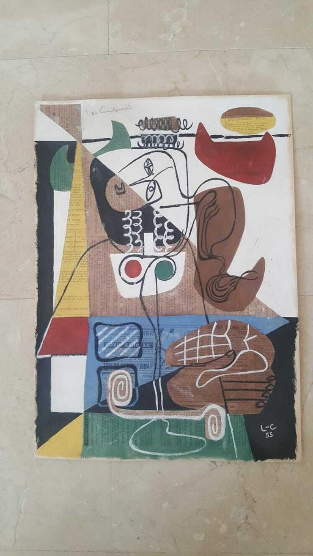Avantgarde Collage Signierd Le Corbusier