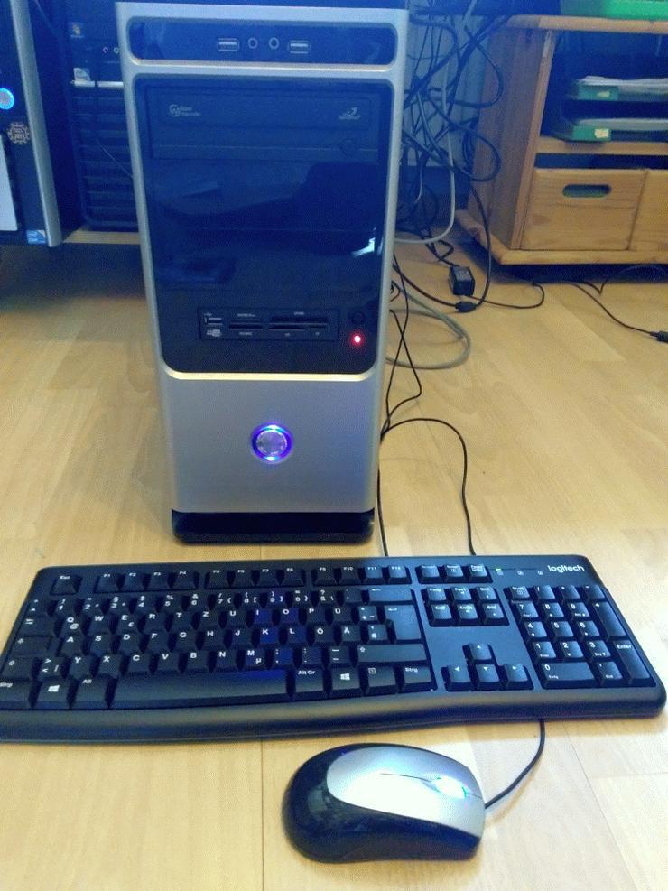 Bild 3: WIN 10 Pro, Komplett PC, incl. Bildschirm, neue Logitech-Tastatur und Maus