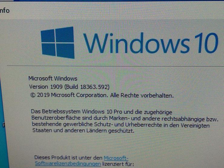 Bild 2: WIN 10 Pro, Komplett PC, incl. Bildschirm, neue Logitech-Tastatur und Maus