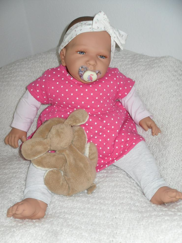 Bild 5: Doro Dolls Babypuppe Rosa 52 cm mit Schnuller Spielpuppe Baby