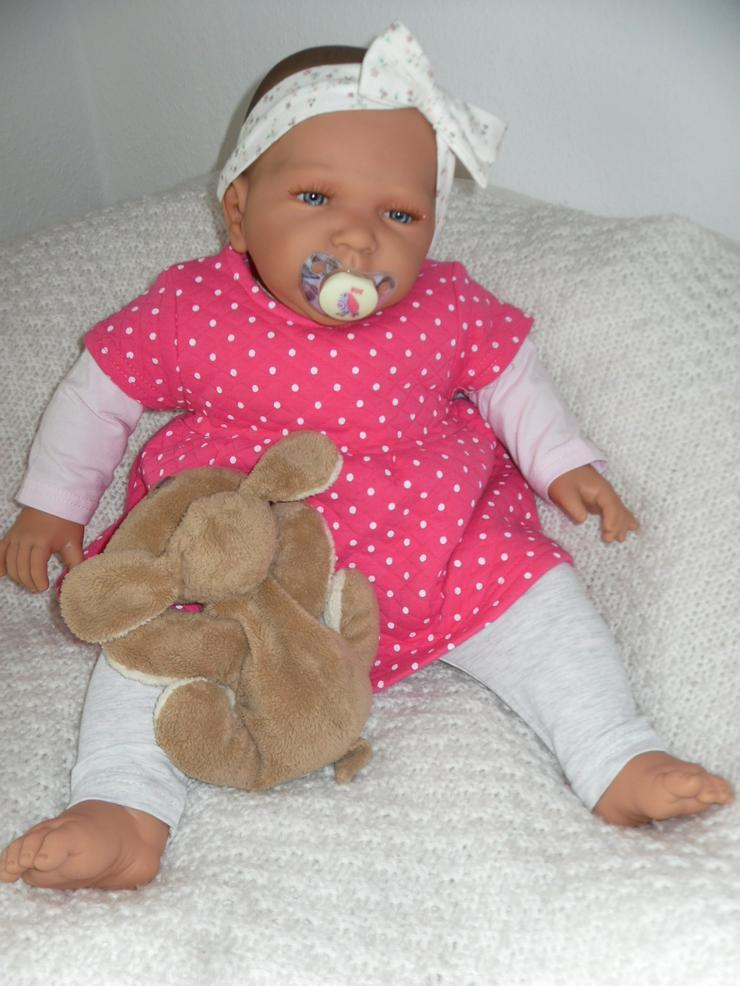 Bild 4: Doro Dolls Babypuppe Rosa 52 cm mit Schnuller Spielpuppe Baby