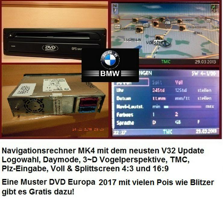BMW Navi MK4 Navigationsrechner Logowahl & Europa DVD 2017