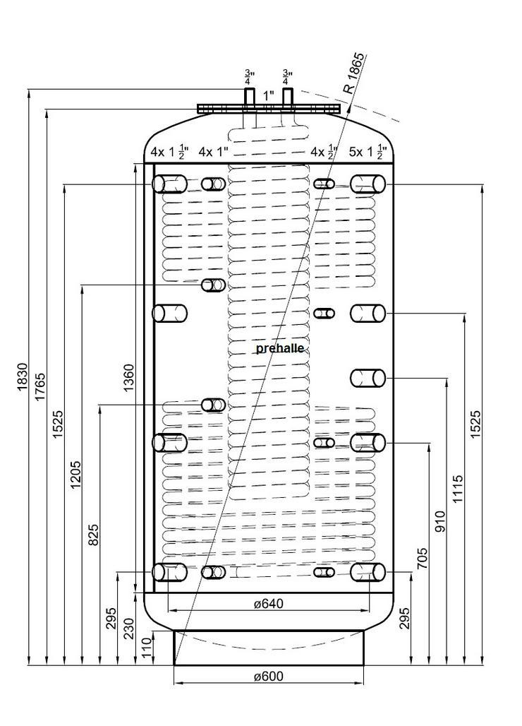 Hygiene Kombispeicher 800L 3 WT, 90° Anschlüsse Für Heizung Solar